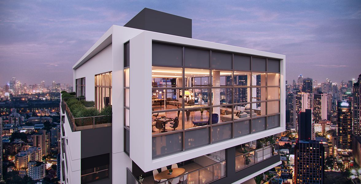 SKY LOUNGE exclusivo no 24º pavimento, com espaço gourmet e jogos. Luxuoso espaço com pé-direito duplo e amplas janelas, para você relaxar e aproveitar a melhor vista da região.