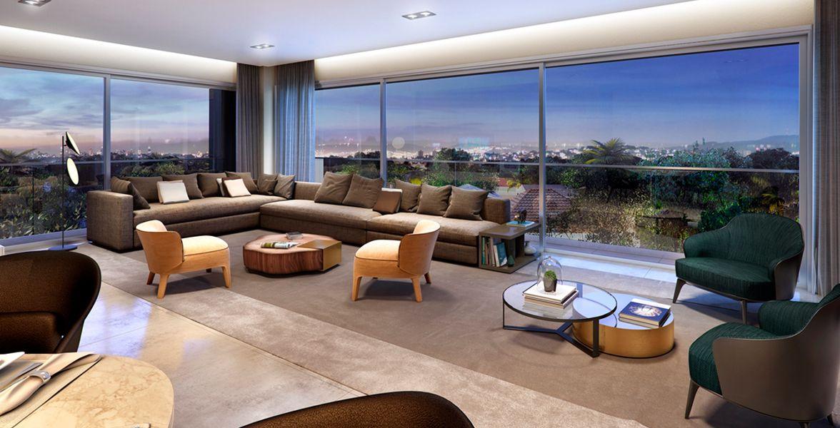 LIVING do apto de 206 m².