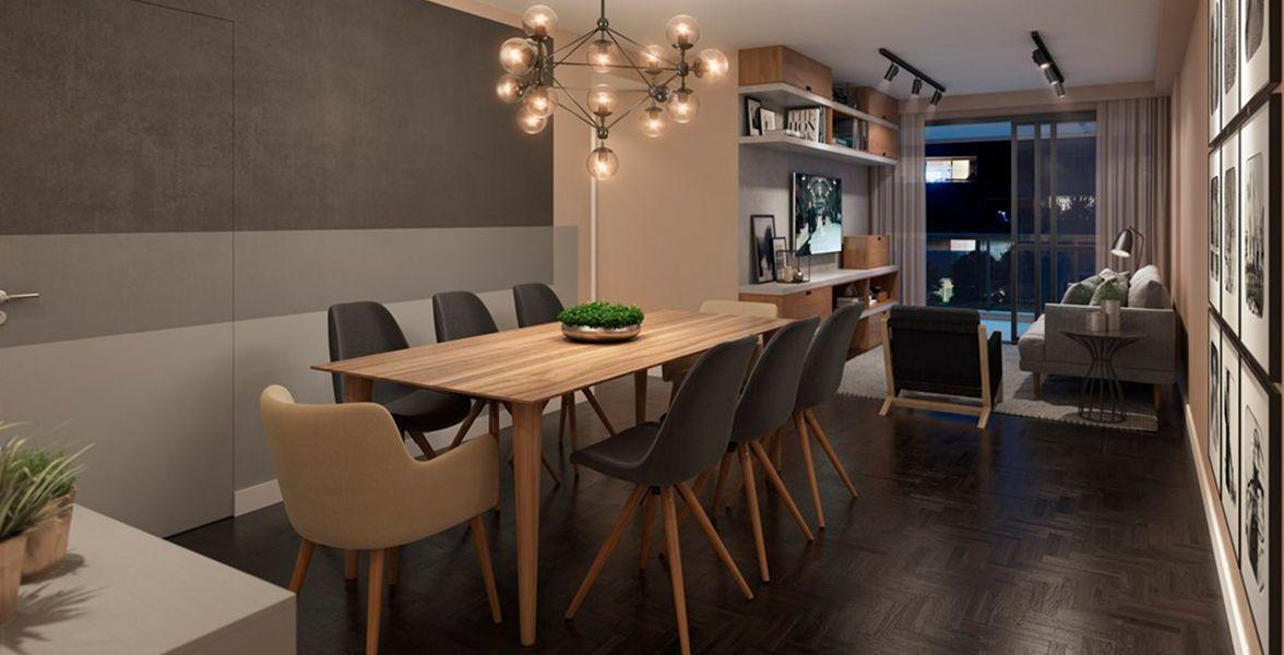 SALA do apto de 110 m².