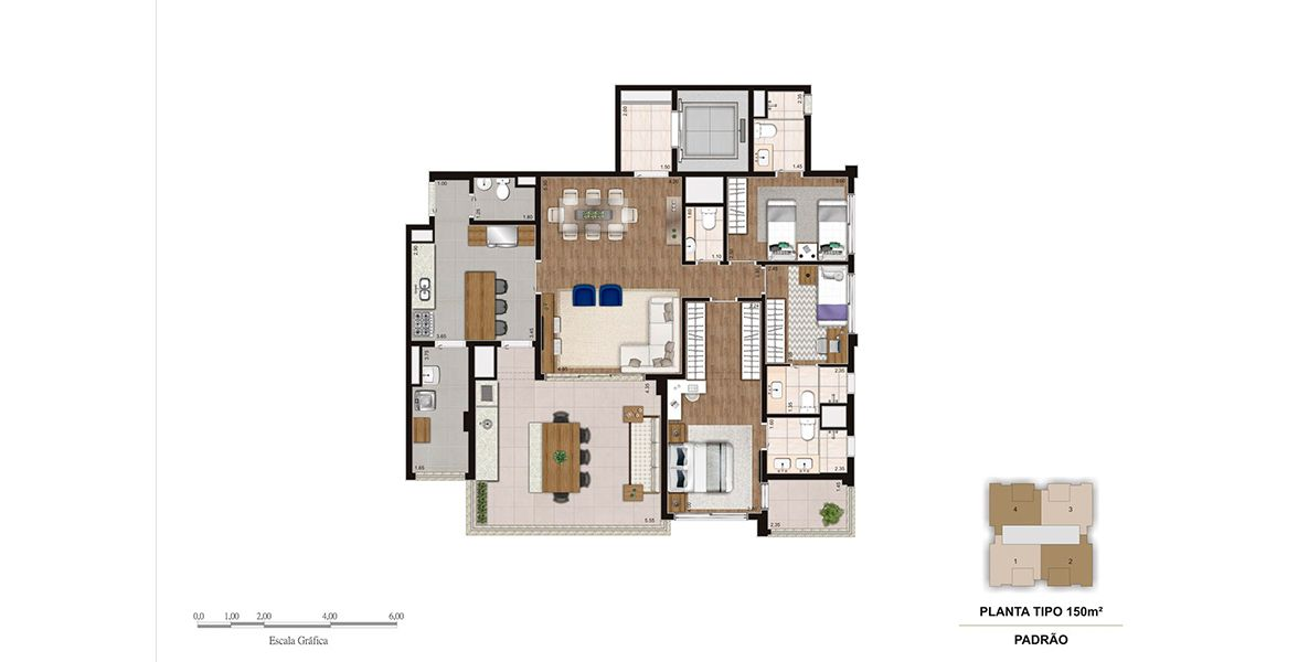Planta do Legacy Klabin. floorplan