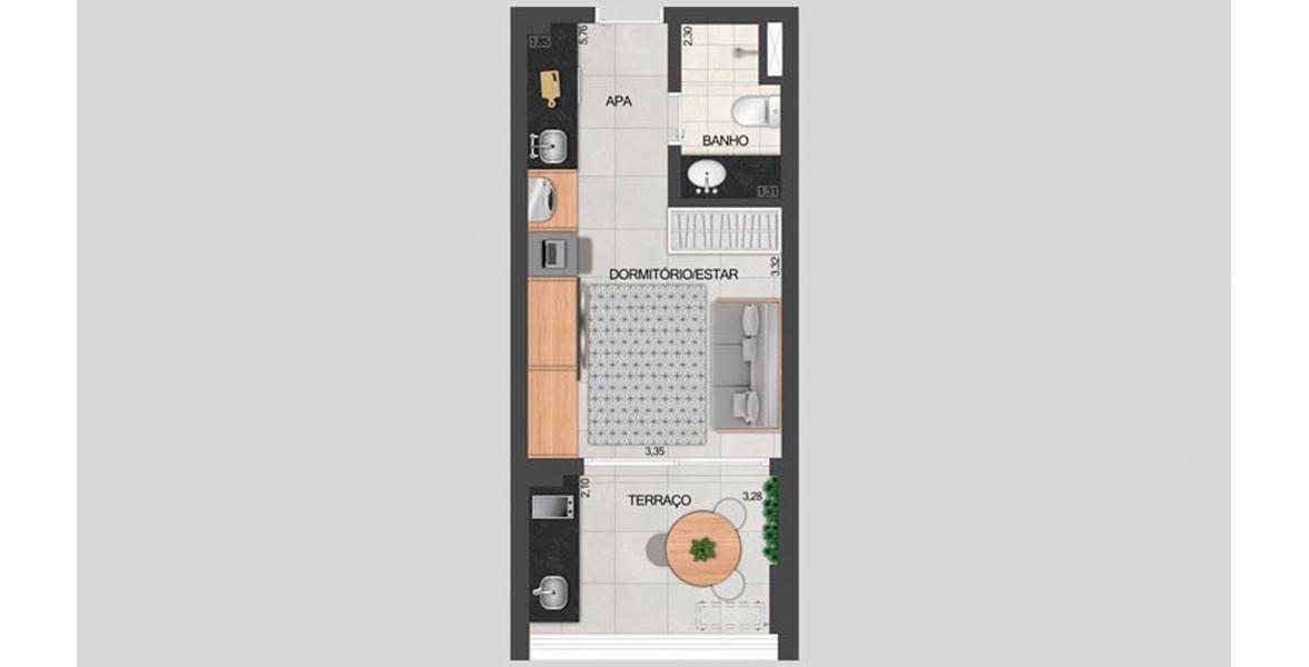 30 M² - STUDIO. Apartamentos Studios em Pinheiros, com terraço com opção kit churrasqueira, tomada usb e infra para ar-condicionado, além de serviços pay per use, 24 horas por dia.