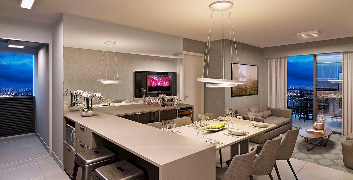 LIVING do apto de 75 m²
