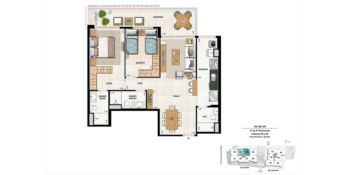 Planta do On. floorplan