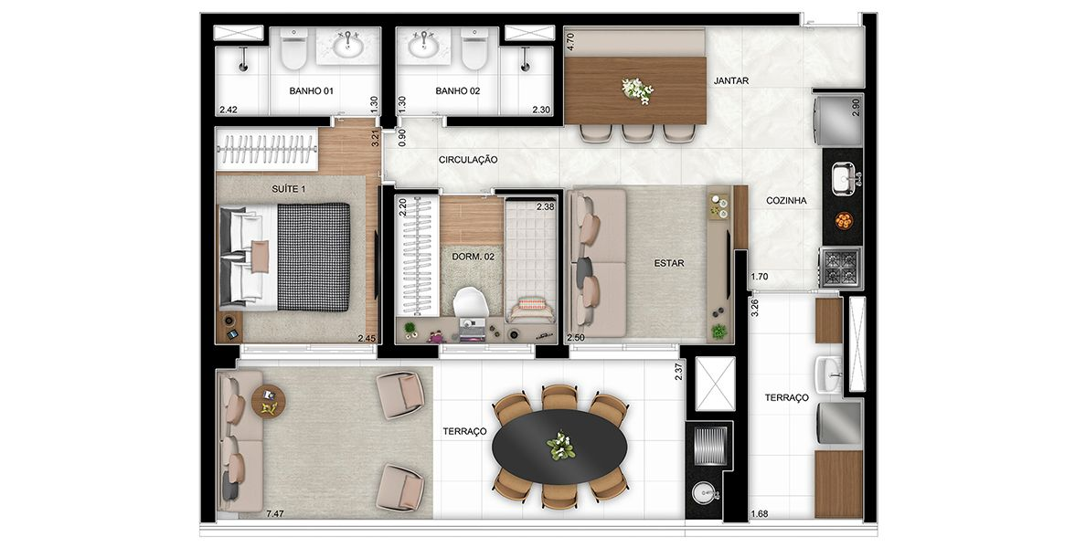 Planta do Blem Home Resort. floorplan