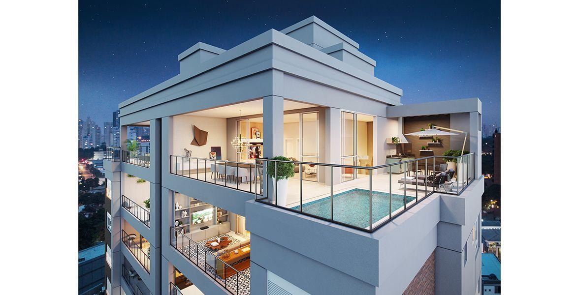 VOO do apto duplex de 316 m².