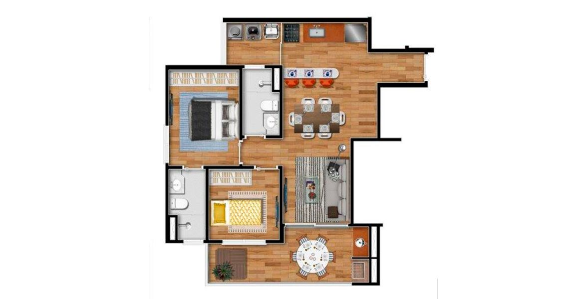 Planta do First Santana. floorplan