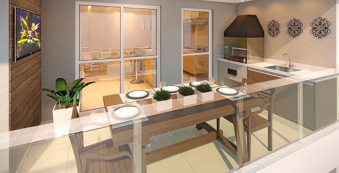 TERRAÇO gourmet do apto de 85 m².