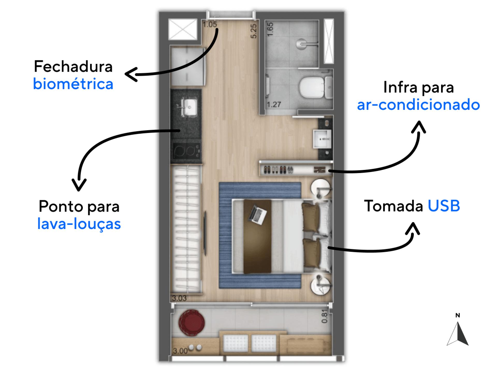 42 m2 com 1 vaga