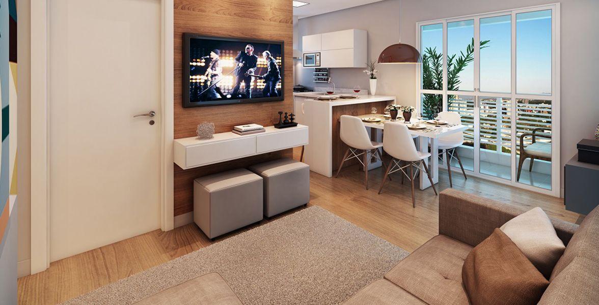 LIVING do apto de 38 m².