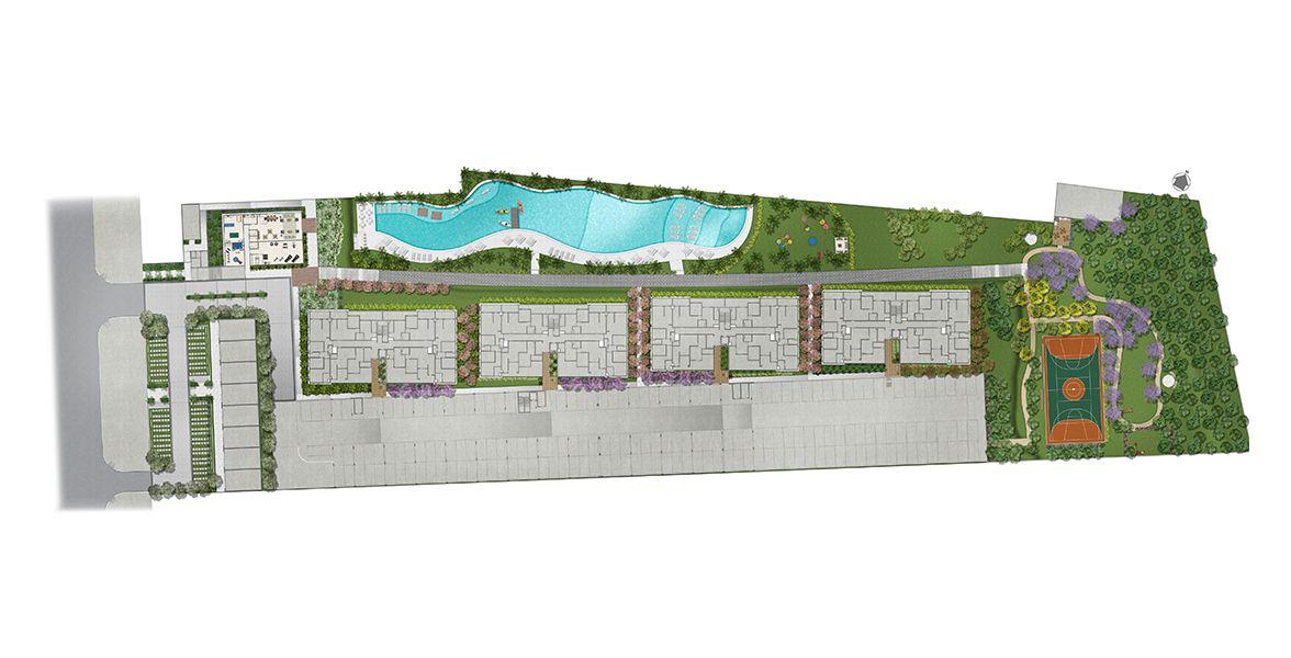 Planta do Tons de Ipanema. floorplan