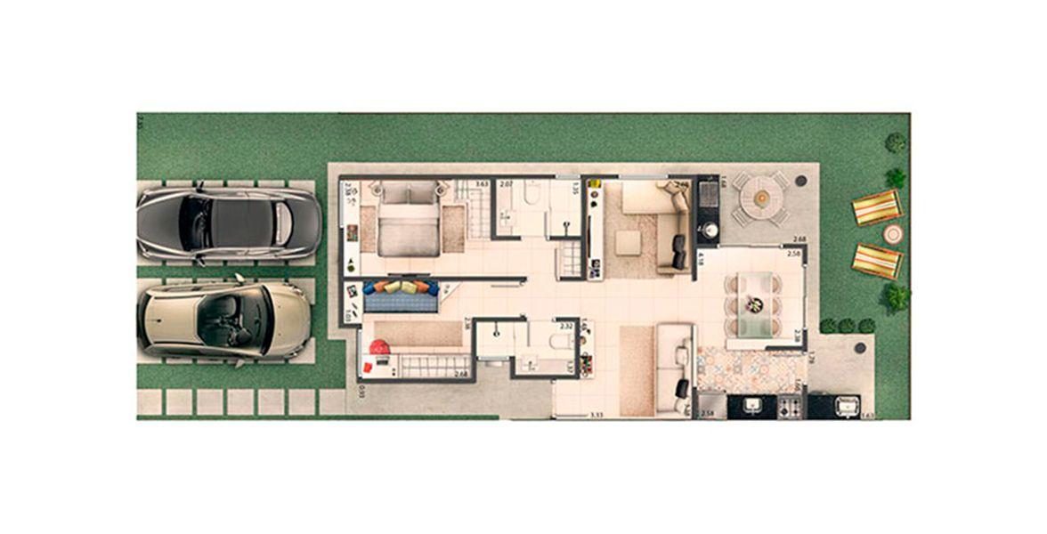 70 M² - 2 DORMITÓRIOS, SENDO 1 SUÍTE.