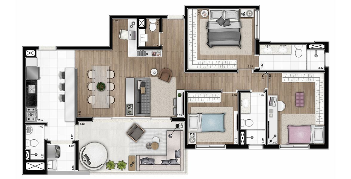 Planta do Cinquo Perdizes. floorplan