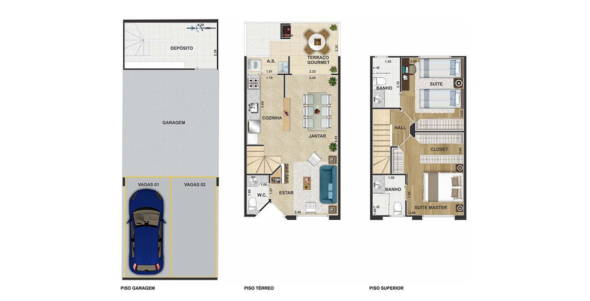Planta do Villa Bosque. floorplan