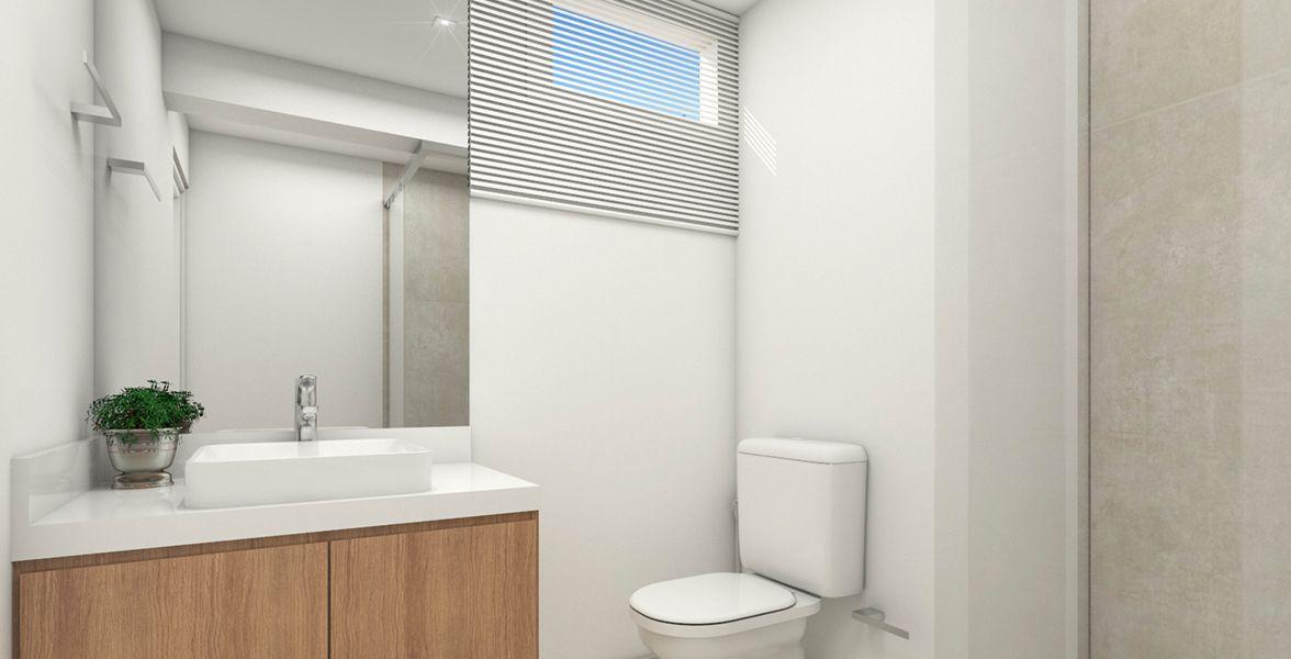 BANHEIRO do apto de 100 m². (Apartamento 81, 8º andar).