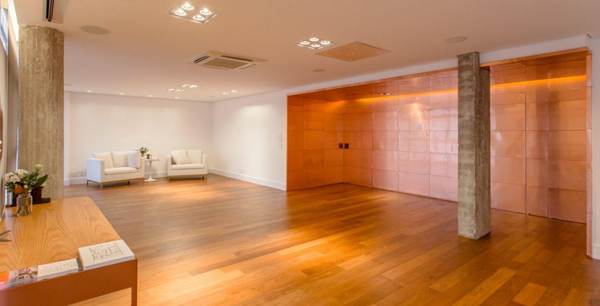 SALA do apto de 228 m².  do Edifício Adriático