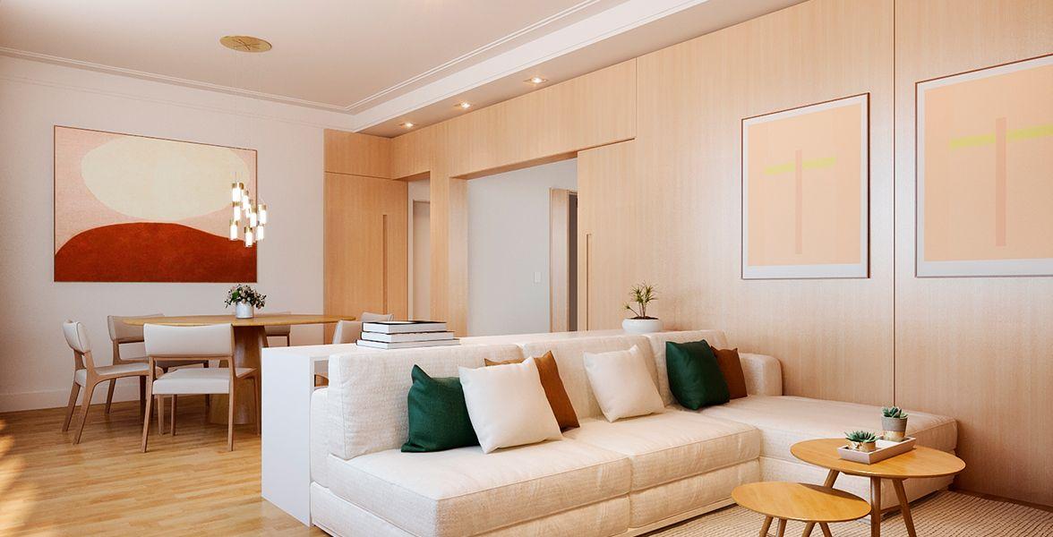 SALAS do apto de 139 m². (Apartamento 142, 14º andar) do Edifício Franejoan