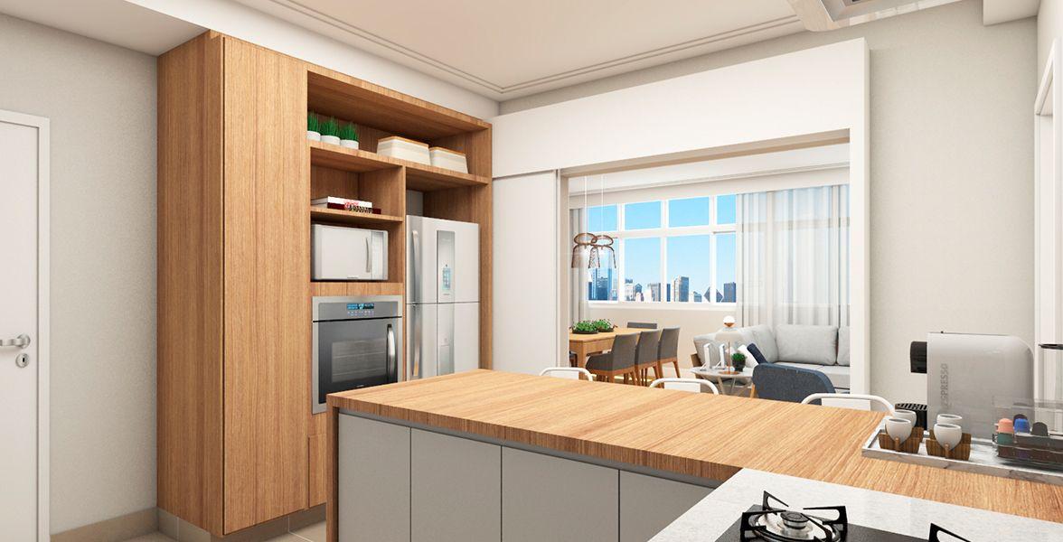 COZINHA do apto de 161 m². (Apartamento 92, 9º andar).