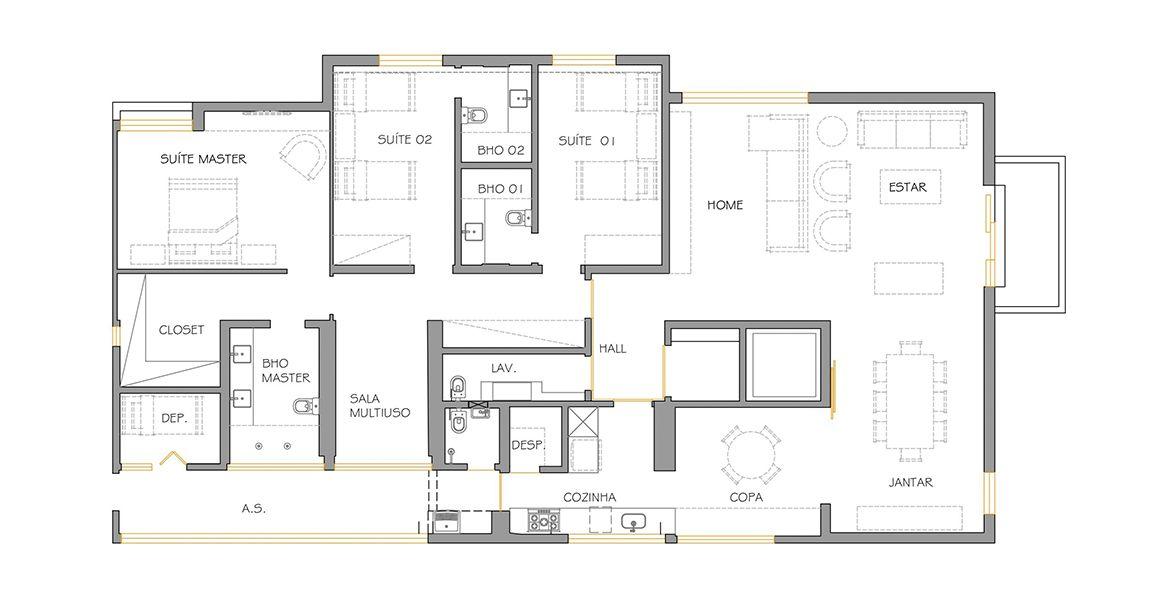 225 M² - 3 SUÍTES. (Apartamento 101, 10º andar).