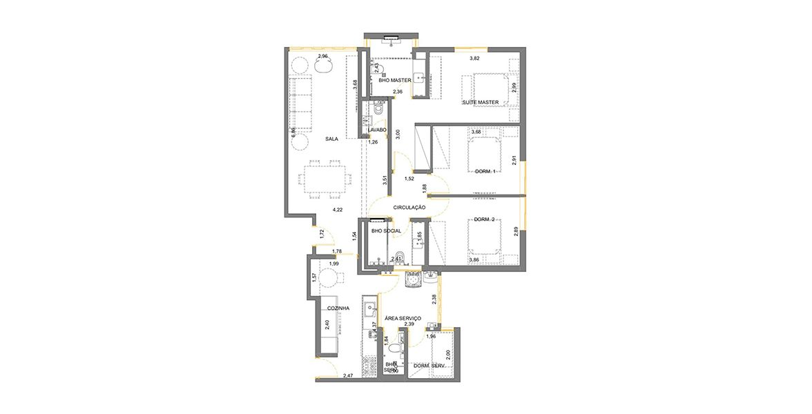 Planta do Edifício Itacema. floorplan
