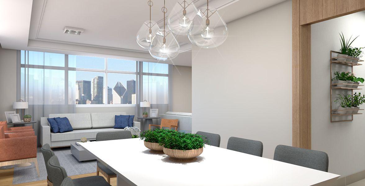 SALAS do apto de 149 m². (Apartamento 21, 2º andar).