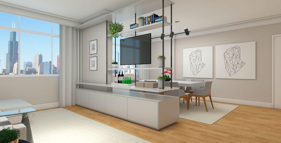 SALAS do apto de 151 m². (Apartamento 22, 2º andar).