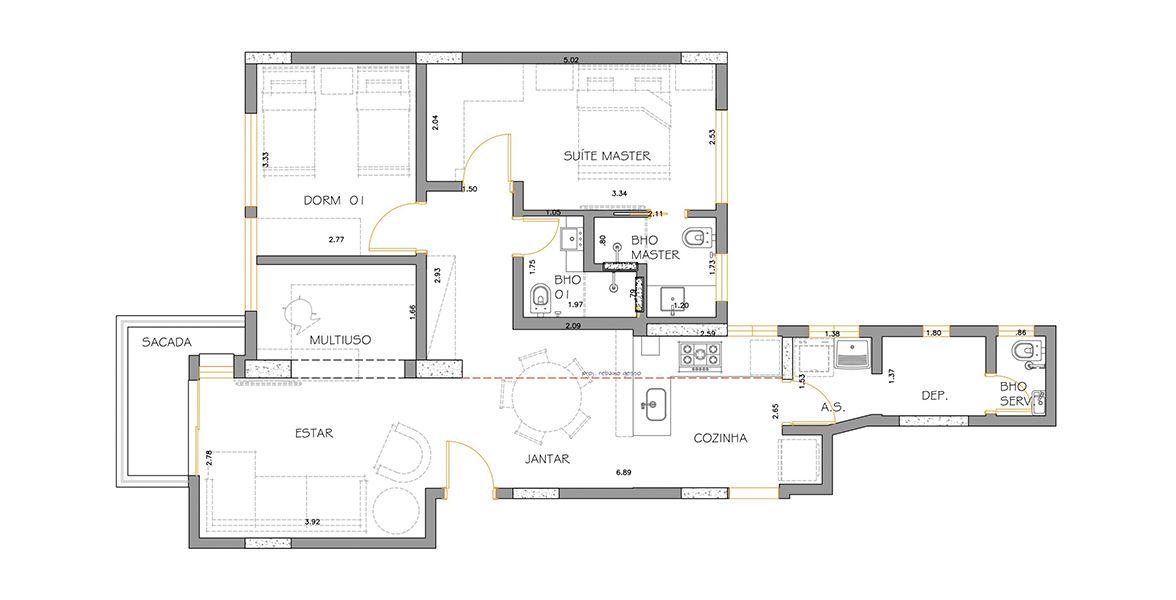 87 M² - 2 DORMITÓRIOS, SENDO 1 SUÍTE. (Apartamento 102, 10º andar).