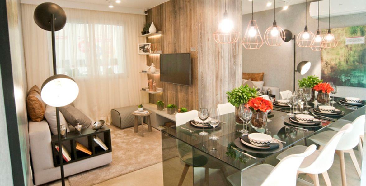 LIVING do apto de 40 m² do Plano&Jacu Pêssego