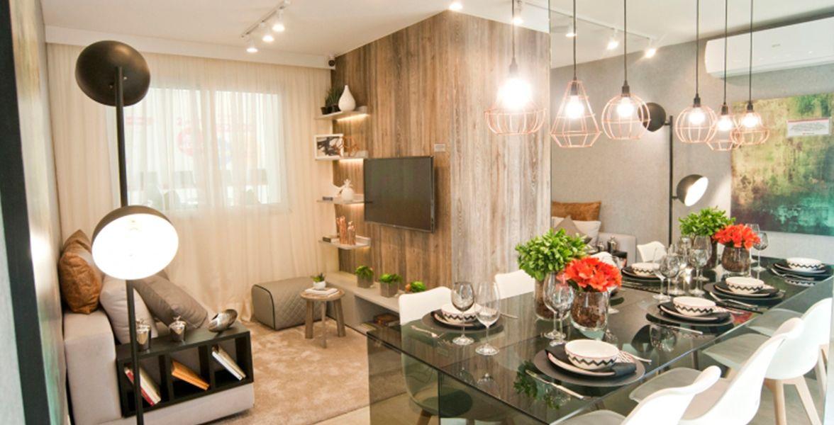 LIVING do apto de 40 m².