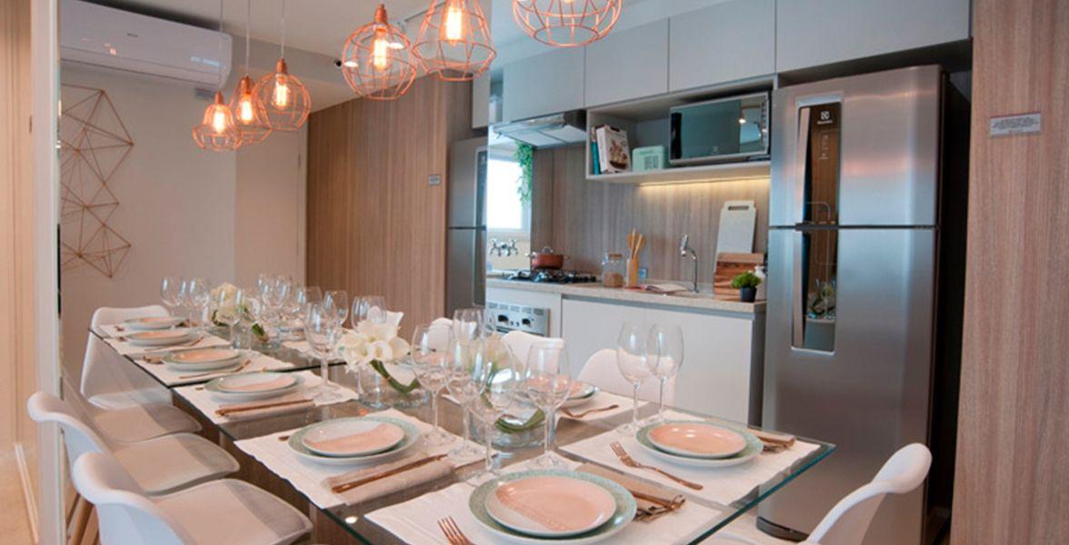 LIVING do apto de 40 m² do Plano&Raposo