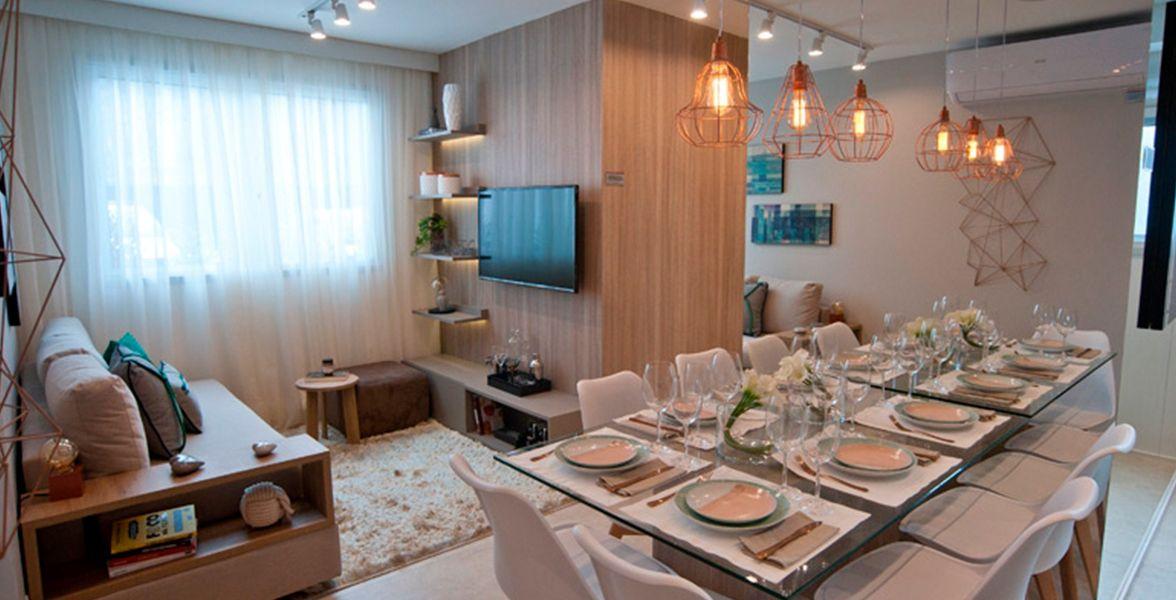 LIVING do apto de 40 m² do Plano&Butantã