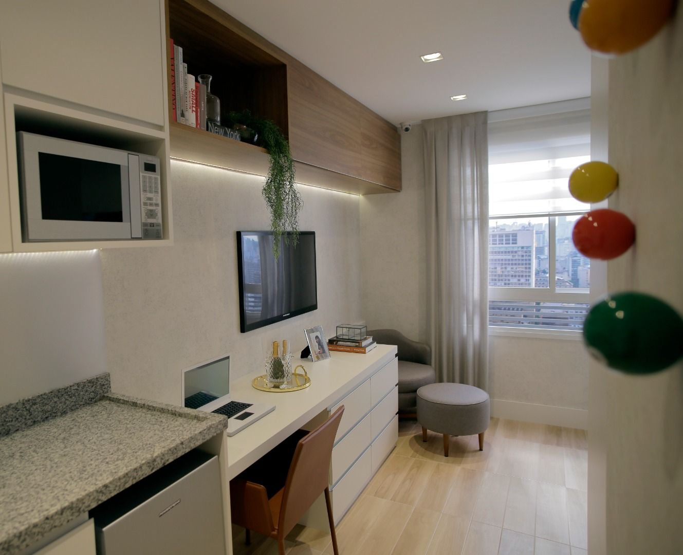 LIVING do apto de 31 m².