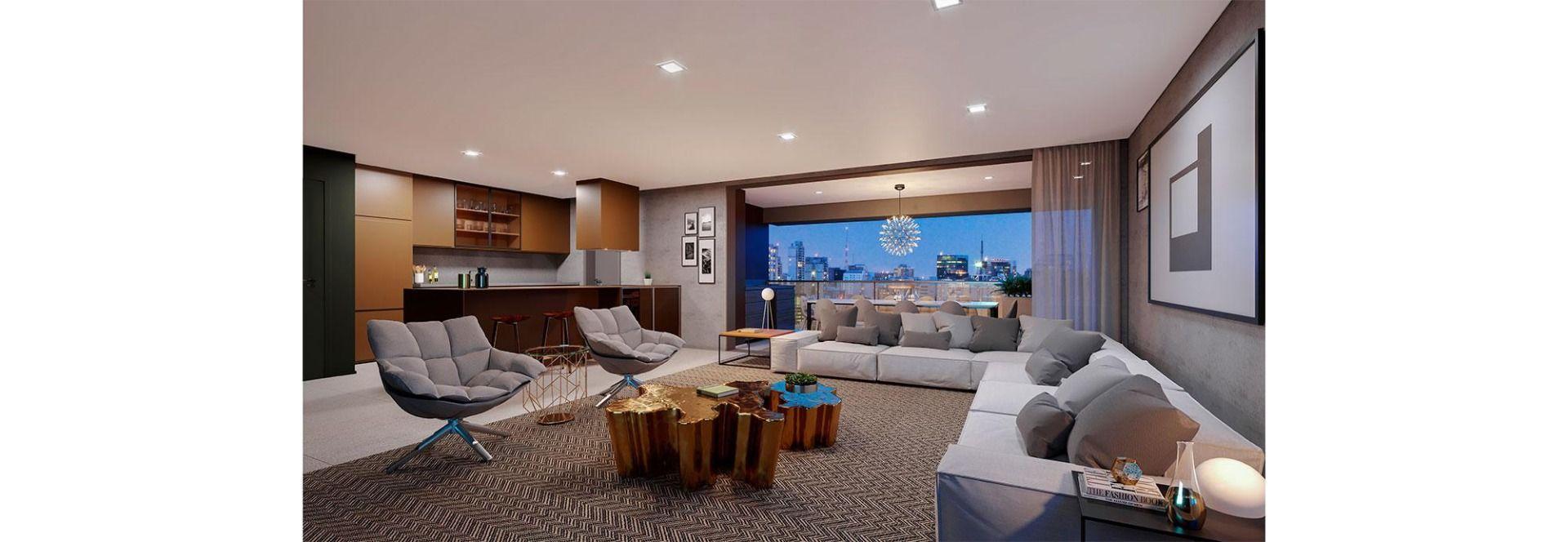 LIVING do apto de 181 m².