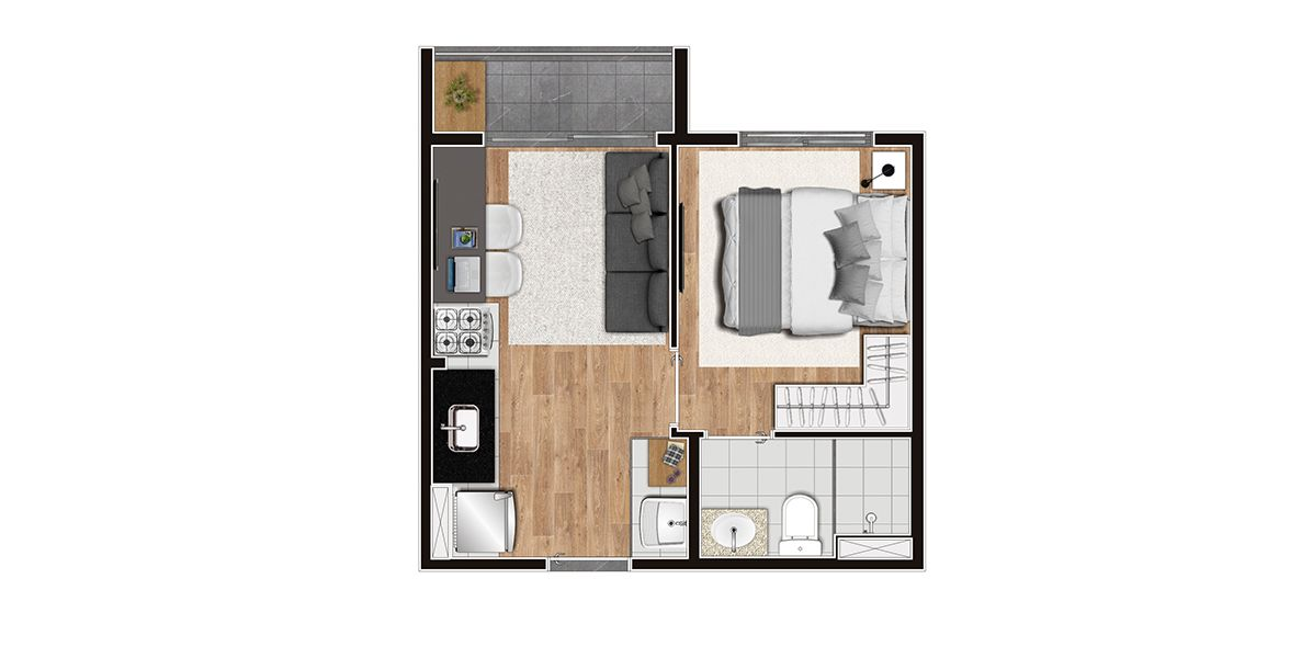 Planta do Vibra Conceição. floorplan