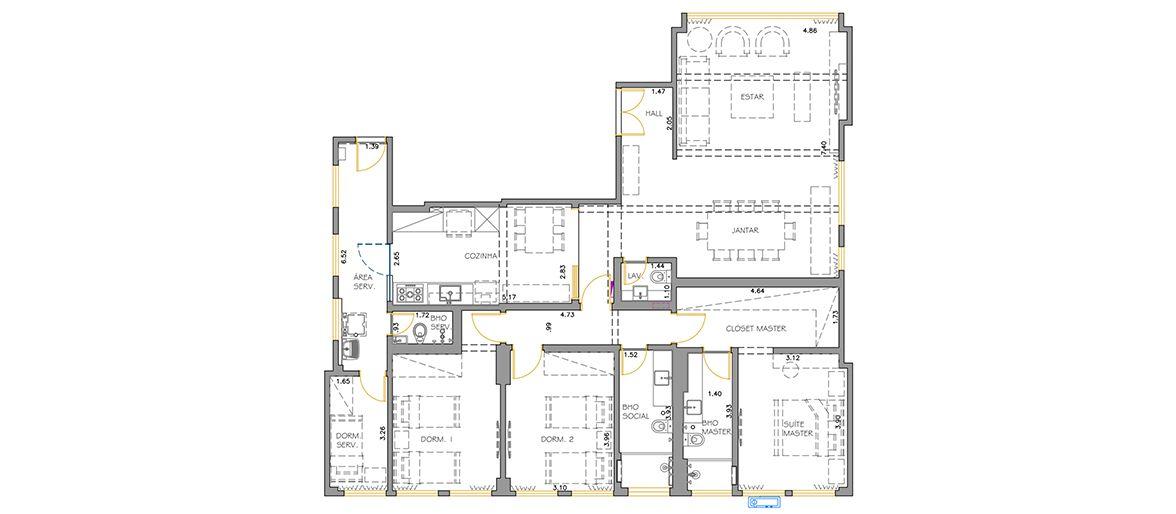 Planta do Edifício Planalto. floorplan