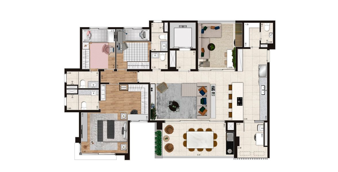 Planta do Loomi Klabin. floorplan