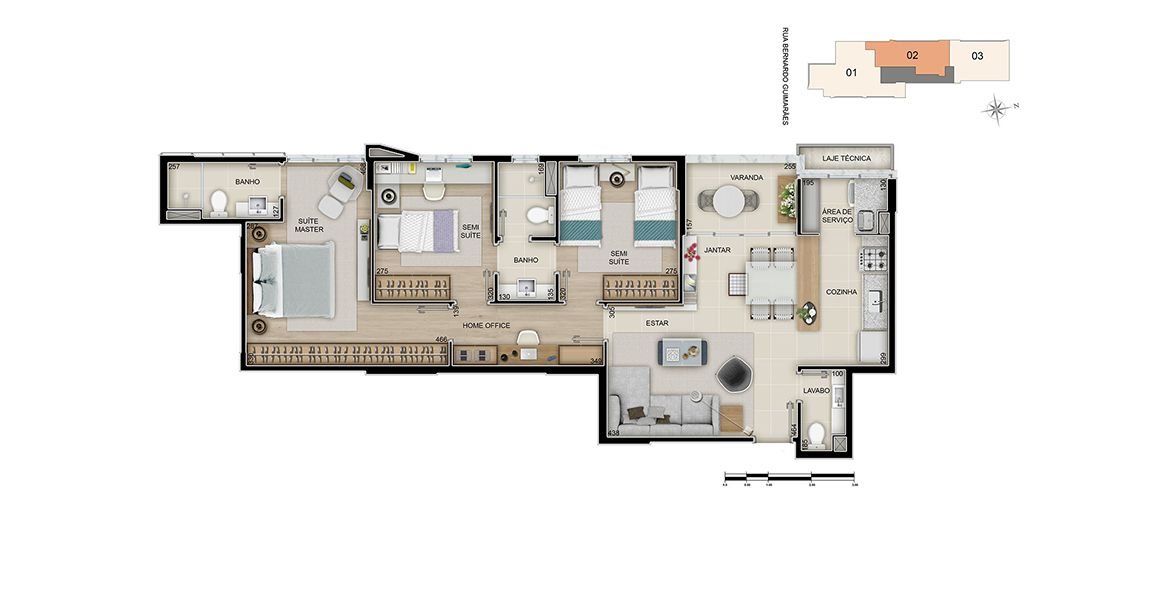 Planta do Legacy. floorplan