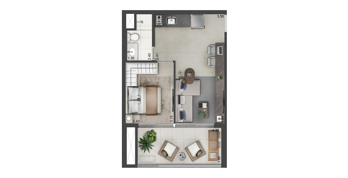 Planta do Lume Alto da Boa Vista. floorplan