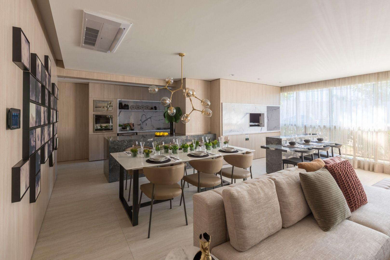 LIVING do apto de 107 m².* do Stella Campo Belo