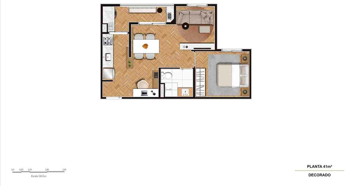 Planta do Top Guarulhos. floorplan