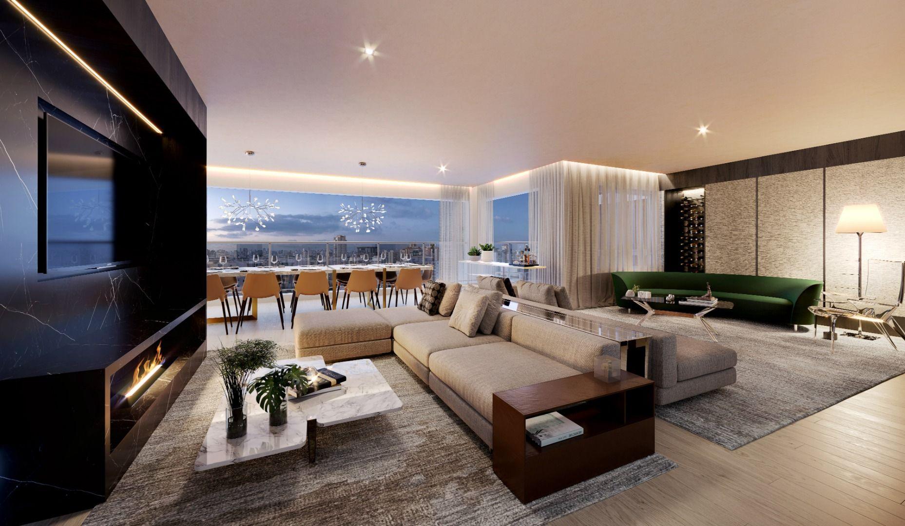 LIVING do apto de 157 m².