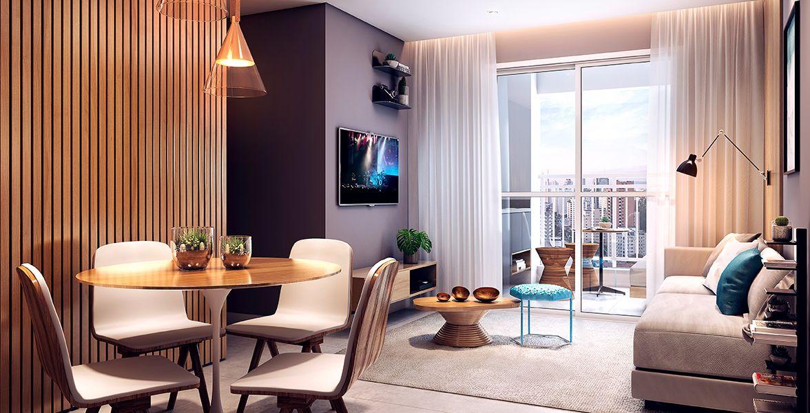 LIVING do apto de 56 m².