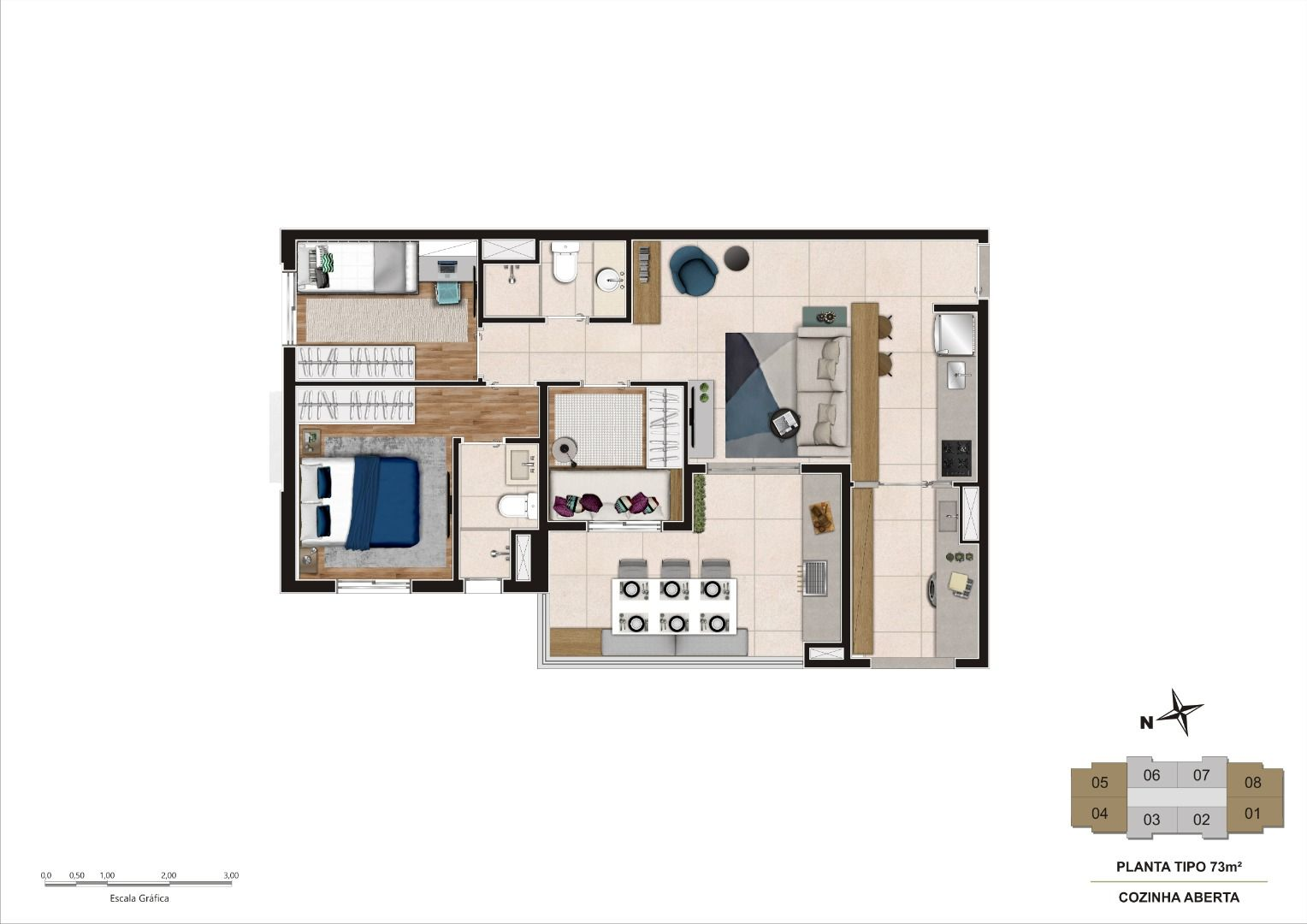 Planta do Reserva Tibagy Family Home. floorplan