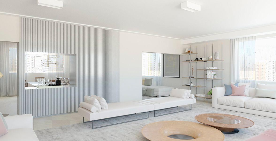 LIVING do apto de 279 m² no 10º andar.