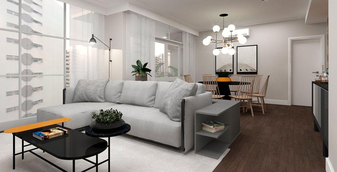 LIVING do apto de 131 m² no 11º andar.