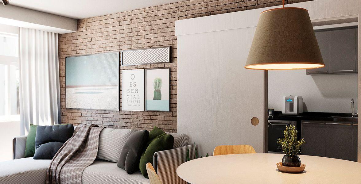 LIVING do apto de 100 m² no 5º andar.