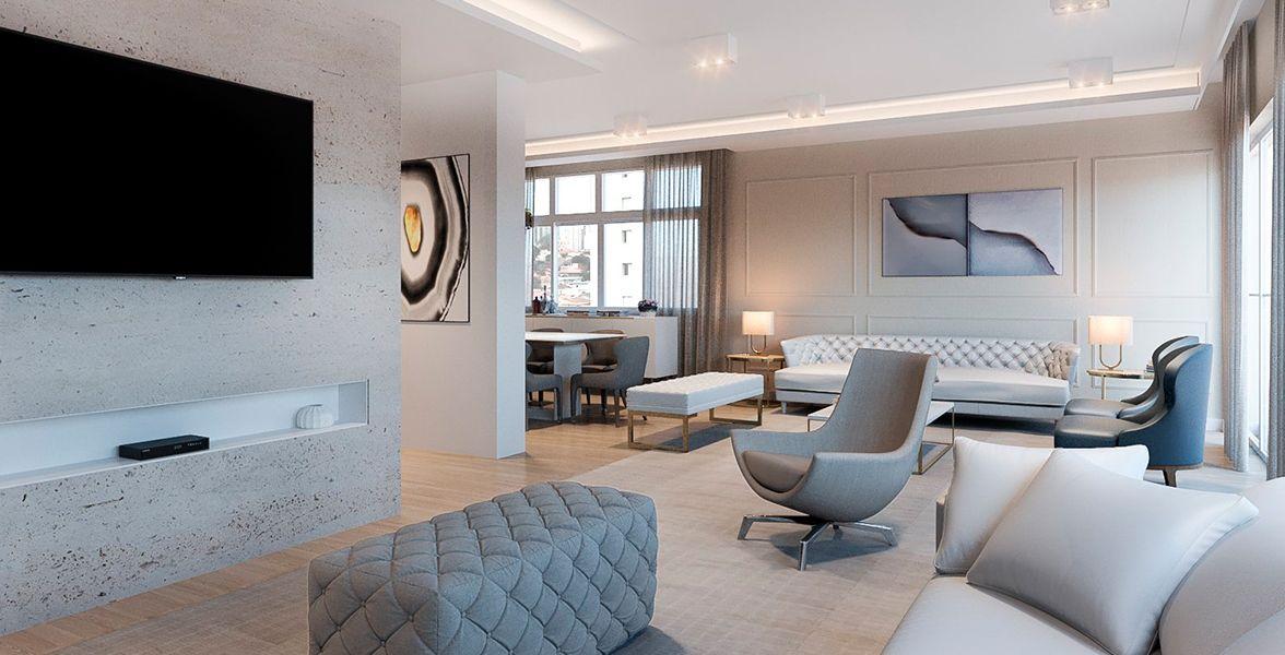 LIVING do apto de 208 m² no 10º andar do Edifício Edith