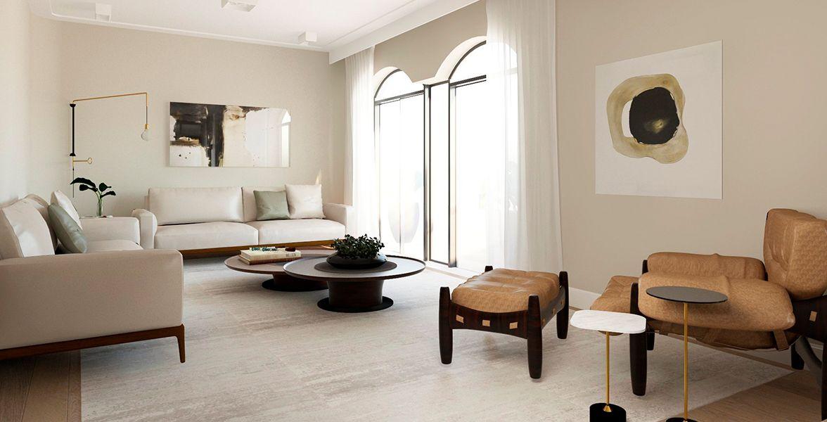 LIVING do apto de 196 m² no 12º andar.
