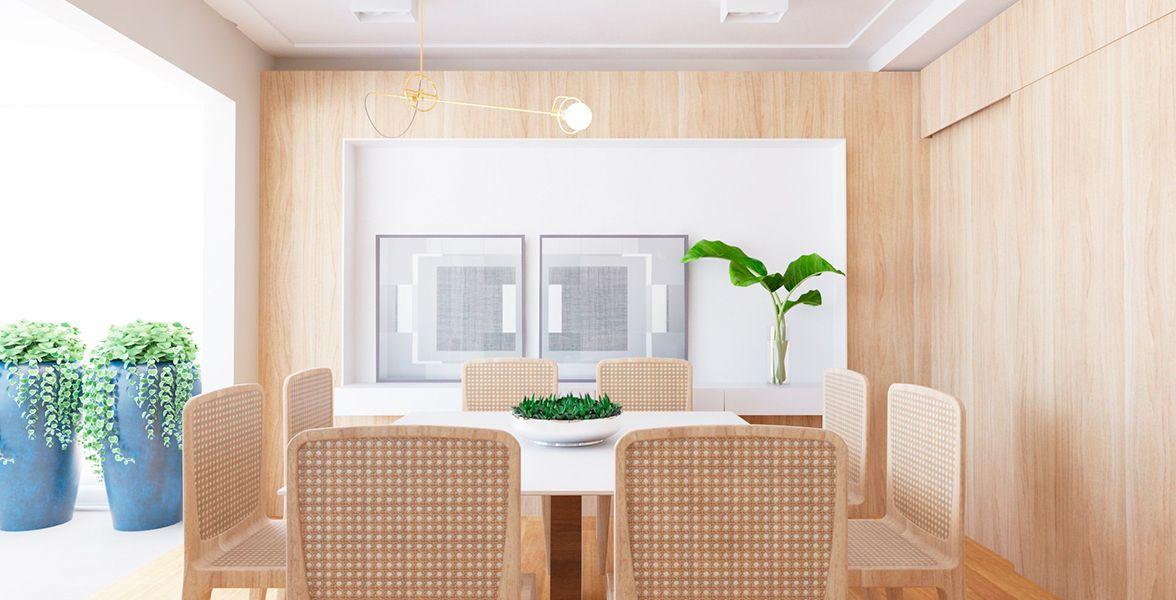 LIVING do apto de 150 m² do 10º andar.