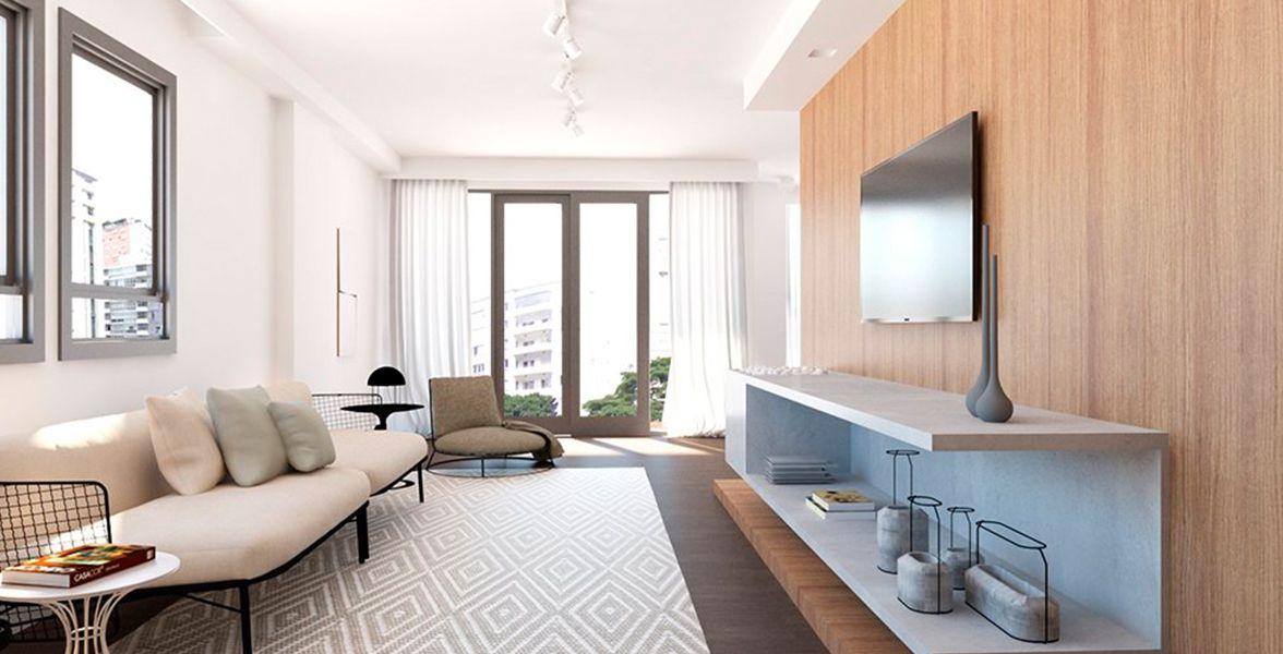 LIVING do apto de 184 m² no 4º andar.