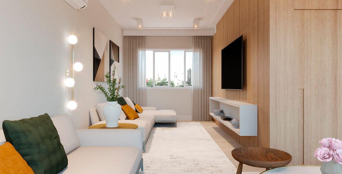 LIVING do apto de 182 m² no 7º andar do Edifício Claudia